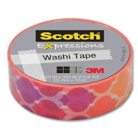 Washi Tape orange red