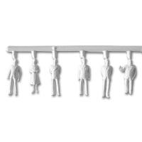 3 x 6 Unpainted Figures, standing 1:100