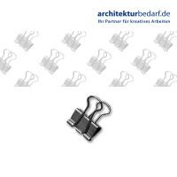 Foldback-Klammern Nickel silber 19 mm