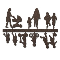 Figure Set Children, 1:50, dark brown
