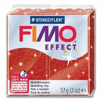 Fimo Effect Glitterfarbe 202 rot