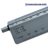 stano-metric Alu-Reduktionsmaßstab Ingenieur DIN