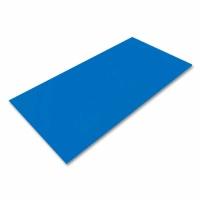 Polystyrene Sheet Blue 495 x 1000  x 2.0 mm