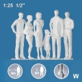 3D Figures 1:25 standing, white