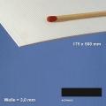 Corrugated Paperboard, black 3 mm Flute