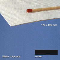 Corrugated Paperboard, black 3 mm Flute