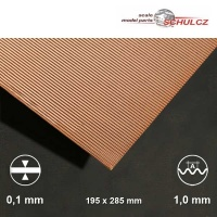 Kupfer-Wellblech, Welle 1 mm