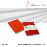 Skizzenheft Sketch & Note, Red Bundle A5 hoch