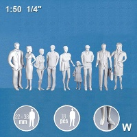 3D Figures 1:50 standing, white