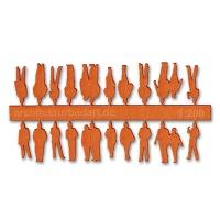 Figuren, 1:200, orange
