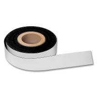 magnetoplan Magnetic Tape, PVC, white, 15 mm x 30 m