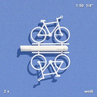 Bicycles 1:50, white, Pack of 2