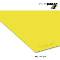 Tonzeichenpapier 130g/m² DIN A4, 15 sonnengelb