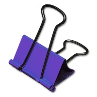 Foldback-Klammer 25 mm Trendfarbe lila