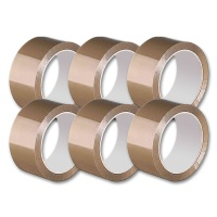 Packing Tape, brown, 6 pcs.