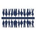 Figures, 1:100, dark blue