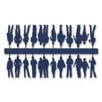 Figures, 1:100, dark blue