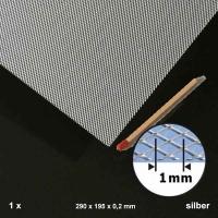 Streckmetall Aluminium, Raute 1,0 mm