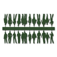 Figures, 1:100, dark green