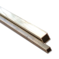 Brass Rectangular Tube square 1,0 x 1,0 mm