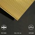 Corrugated Sheet Brass, Wave 3 mm