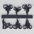 Bicycles with Cyclists, 1:200, darkgrey