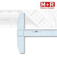Kunststoff-Reißschiene, 75 cm