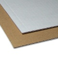 Micro Corrugated Cardboard brown/white, 1,5 mm