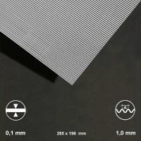 Aluminium-Wellblech, Welle 1,0 mm