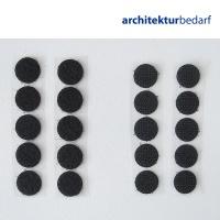 Klettpunkte selbstklebend 16 mm schwarz