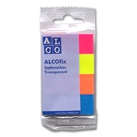 Alcofix Haftnotizen Transparent intensiv
