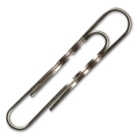 Durable Paper Clips, coppered, round, 50 mm