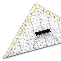 Geometry Set Square with Steel-Edge 32,5 cm