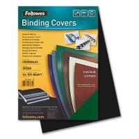 Fellowes Chromolux Cover Sheets, black
