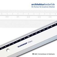 Schneidlineal mit Stahlkante 80cm