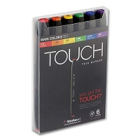 Touch Twin Marker 6er Main Colors