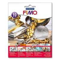 Fimo Leaf Metal Silver, 10 Sheets