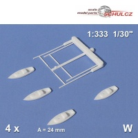 4 Segelboote, weiß, Schulcz 04-0241, 24 mm
