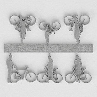 Bicycles with Cyclists, 1:200, lightgrey