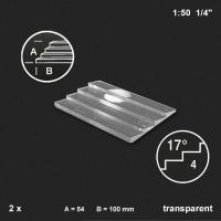 Treppenplatte 17°, transparent, 1:50