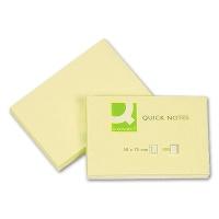 Haftnotizen gelb 50 x 75 mm