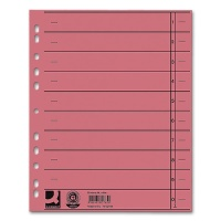 Dividers A4 Overwidth, red