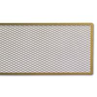 Diagonal Perforate Plate, Brass 4,5 x 30 cm