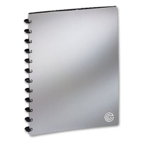 Display Book A4, 20 Covers, silver