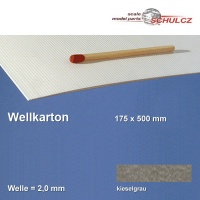 Wellkarton, dunkelgrau 2 mm Welle