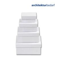 Schachteln aus weißem Karton, rechteckig
