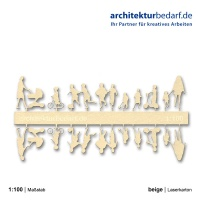 Figurenset Kinder, 1:100, beige