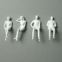 3D Figures 1:25 sitting, white