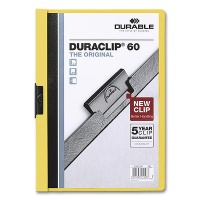 Clip Folder Duraclip 60 - A4 yellow