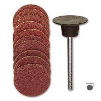 Sanding Pad with 10 Sanding Discs, 18 mm diameter